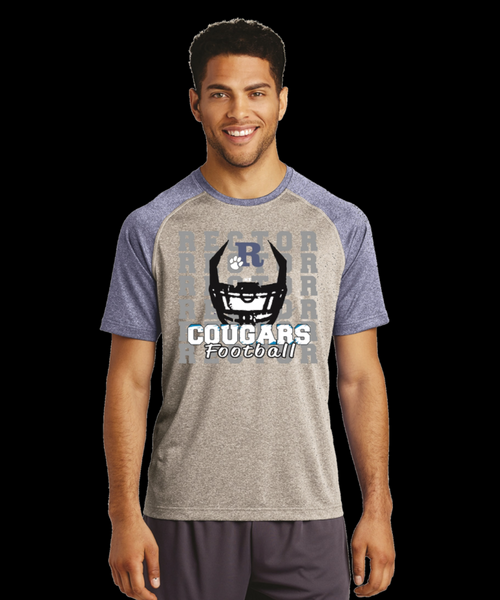 Cougars Football Custom Printed Sports Tee